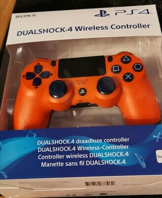 Official Sony PlayStation 4 DualShock4 Wireless Controller - Sunset Orange PS4