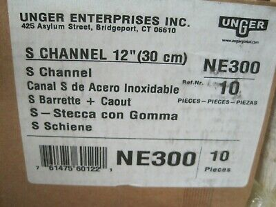"""Unger NE300 12"""" Replacement """"S"""" Channel  Squeegee with Blade"""