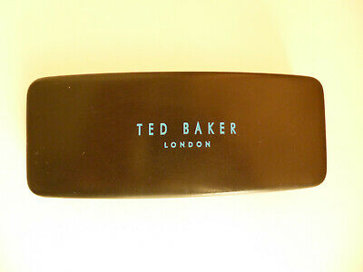 TED BAKER Black Glasses Case with TED BAKER Cloth