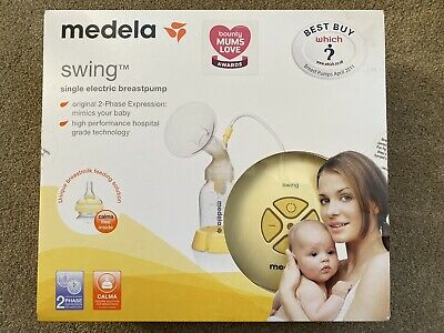 Medela Swing breast pump - sparkling clean, well looked after with spare parts