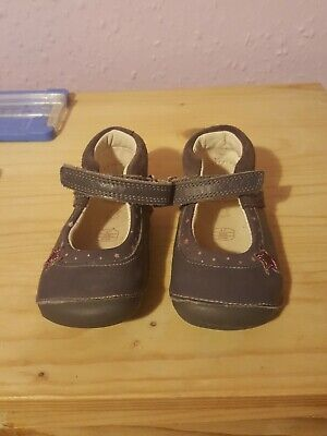 Baby Girls Clarks First Shoes Size 4f