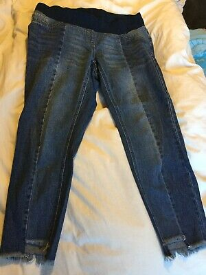 Next Maternity Size 12 Regular Slim Slouch Jeans Under Bump