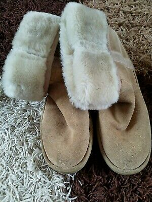 Girls Suede Tan Tasseled ankle boots Size 3