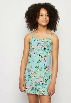 New Look - 915 Girls Blue Floral Print Playsuit - Age 11 Years - BNWT