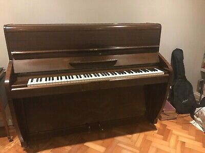 Challen Upright Piano, dark brown, well-loved, few scratches, regularly tuned