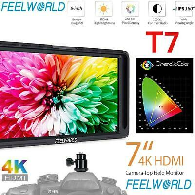 "Feelworld T7 7"" IPS Full HD 1920X1200 16:10 4K Camera Monitor HDMI for DSLR DR"