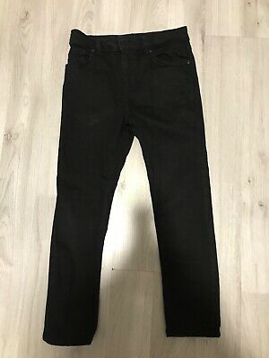 boys black river island jeans age 8. Item is used but excellent condition.