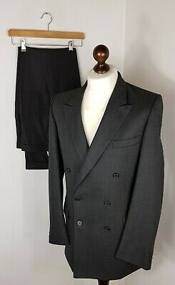 Mens Gieves & Hawkes Savile Row Bespoke Double Breasted Suit 42R W34 X L43