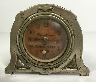 Lux Heartbeat Advertising Shelf Clock Time Will Tell Sundial Shoes 1928