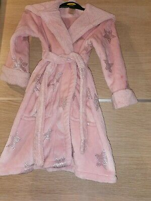 Girls Sparkle Stars Dressing Gown Age 4-5