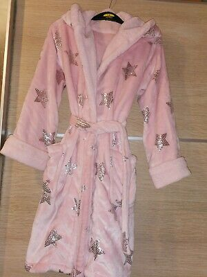 Girls Sparkle Stars Dressing Gown Age 8-9