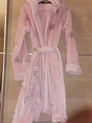 Girls Sparkle Stars Dressing Gown Age 10-11