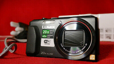 PANASONIC LUMIX DMC-TZ55EB-K CAM 16MP 20X LCD BLK DIGITAL CAMERA USB CABLE //LEAD