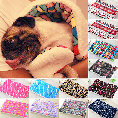 Large Pet Dog Cat Blanket Printed Bed Puppy House Soft Warm Kennel Washable Mats
