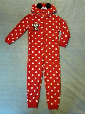 Lovely Girls Minnie Mouse Fleece All in one pyjama 7-8 Years