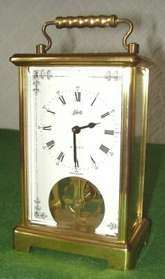 Vintage Brass Carriage Clock Schatz 8-Day Visible Escarpment