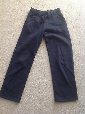 Girls M&S black school tracksuit bottoms, age 9-10 yrs