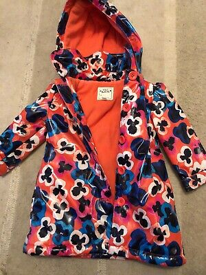 Toddlers Fleece Lined Mac Floral Marks And Spencer Aged 1-1.5
