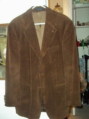 Chaps Ralph Lauren Mens Camel Brown Corduroy Button Blazer Sports Jacket 40