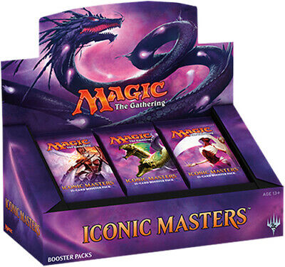 MAGIC THE GATHERING CCG - Iconic Masters Cards Booster Box (WOTC) #NEW
