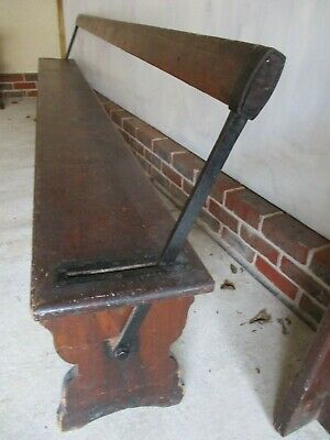 RARE 'SWING BACK'  CHURCH PEW. Delivery possible. ALSO CHAPEL CHAIRS & BENCHES.