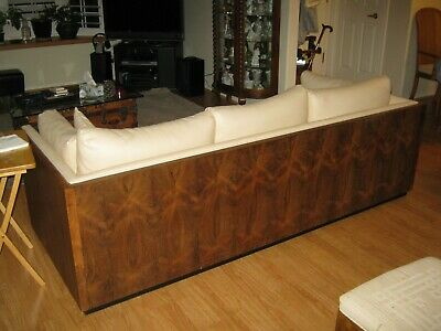 Mid Century Rosewood Box Sofa by designed by Milo Baughman