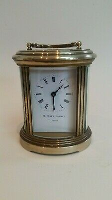 Matthew Norman 8 Day Brass Oval Carriage Clock.........ref.2084