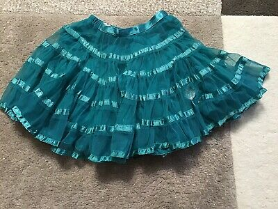 GIRLS SKIRT AGE 2/3YRS TEALE COLOURED M&S Vgc