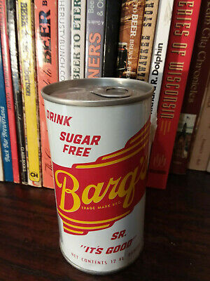 Barg's Sugar Free  12oz Pull Top Soda Can  New Orleans - LA Tax Stamp Bottom lid