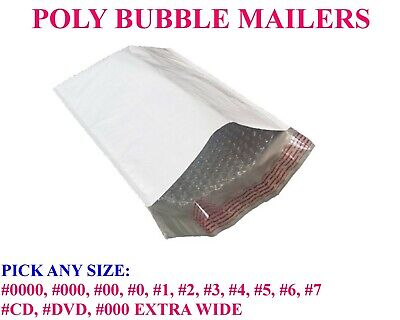 Any Size Poly Bubble Mailers Padded Bags Shipping Mailing Self Seal Envelopes