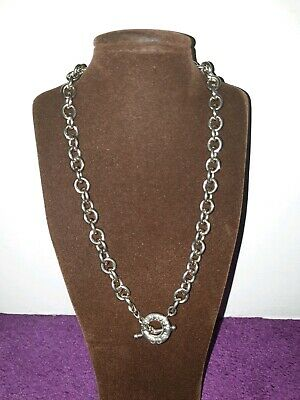 Sterling Silver 925 Hallmarked Tiffany & Co Style Toggle Necklace