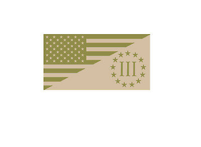 3 Percenter Nyberg Subdued Flag Decal SET III Three Percent Tactical Sticker EVM