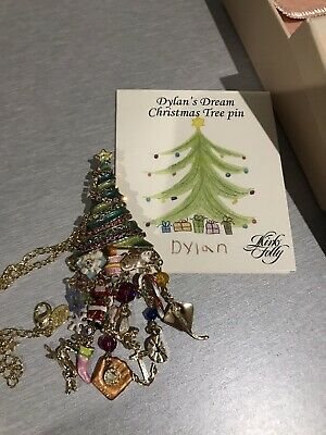 New Kirks Folly Dylan's Dream Christmas Tree Pin/Pendant With Chain #B68