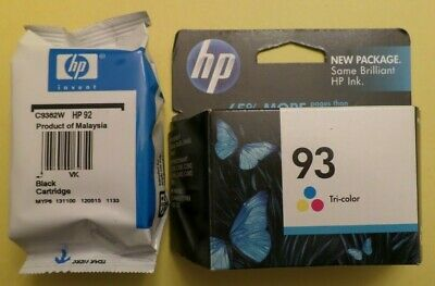 OPEN BOX HP Combo 2-Pack 92 & 93 Black & Tri Color Ink Cartridges FREE SHIPPING
