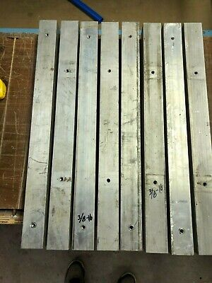 "2"" x 2"" x ~24"" aluminum square bar used with holes"