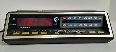GE Vintage Alarm Clock Radio Model 7-4616A - Two Wake Times Tested and Working