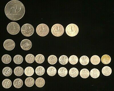 Us Dollar And Quarter Dollars and Dime Collection Includes 32 coins