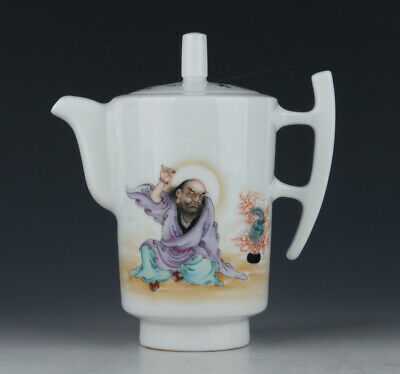 Chinese Antique Porcelain Painting Cover Cup