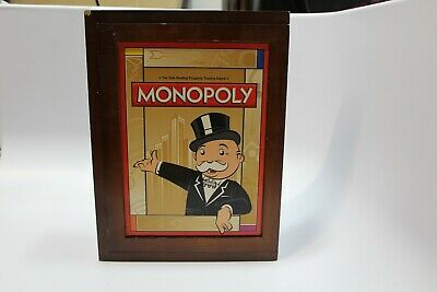 Monopoly Vintage Game Collection Library Bookshelf Edition Wood Box Collection