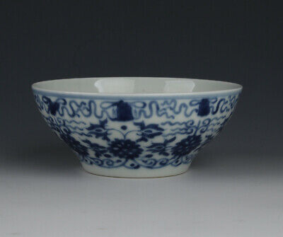 Chinese Antique Blue And White Porcelain Guangxu Markes Bowl