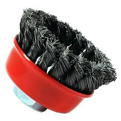 Forney 72757 Wire Cup Brush, Knotted with 5/8-Inch-11 Threaded Arbor, 2-3/4-I...