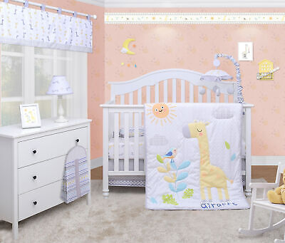 6-Piece Giraffe Animals Baby Boy Girl Nursery Crib Bedding Sets By OptimaBaby