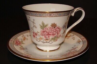 Royal Doulton Canton Tea Coffee Cup and Saucer Bone China Pink Floral  H-5052