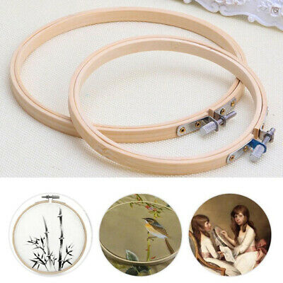 Craft Wooden Frame Hoop Bamboo Ring Hand Embroidery Wreath Cross Supplies