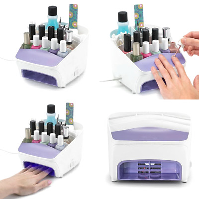 Polder Nail Station 3 In 1 UV Dryer Manicure Cosmetics Organiser Storage Home