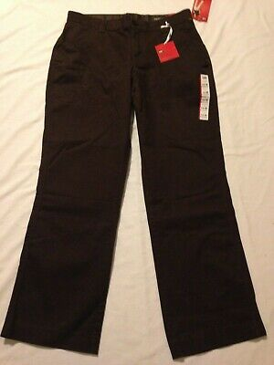 New Lee Sinfully Soft Fabric Straight Leg Brown Chino Pants Women's Size 14M