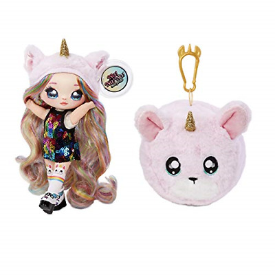 Na! Na! Na! Surprise 2-in-1 Fashion Doll & Plush Pom with Confetti Balloon