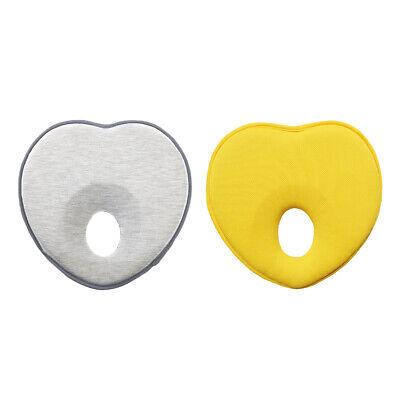 Soft Baby Pillow for Head Shaping Memory Heart Shaped Foam Cushion for Flat Head