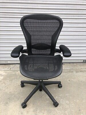 Herman Miller Aeron Office Chair - Black, Size B