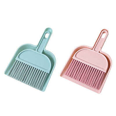 2PCS Mini Small Cleaning Brush and Dustpan Set Desktop Sweep Broom Cleaner Tools